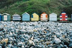Beach huts - Cromer Beach Cabana, Seaside Beach, Beach Art, Surf Shack, Beach Shack, Beach Blanket, Beach Cottages, Beautiful Beaches, Beautiful Landscapes