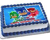PJ Masks edible cake topper PJ Masks edible by FondantFairy 3rd Birthday Parties, Boy Birthday, Happy Birthday, Edible Cupcake Toppers, Cupcake Cakes, Edible Cake, Torta Pj Mask, Pjmask Party, Pj Masks Birthday Cake