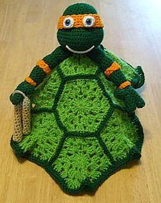 Crochet Ninja Turtle Lovey Paid Pattern $2.75