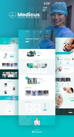 Medicus Divi Theme - Medicus is a versatile medical theme that is suitable for hospitals private doctors dental practice therapeutics surgeons ophthalmologists urinologists gynecologists psychiatrists and any other medical related practices. Site Web Design, Layout Design, Custom Web Design, Website Design Layout, Blog Layout, Web Layout, Page Design, Website Designs, Flat Design