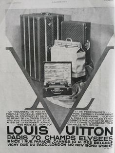 LOUIS VUITTON advertising page from 1931 old magazine ad by OldMag, $10.00