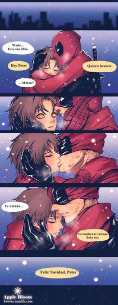 DeadPool x Spiderman <3< Christmas parte 2