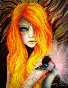 I am on FIRE by PixieCold.deviantART.com    Collage and watercolor
