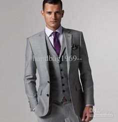 Best Selling Two Buttons Light Gray Notch Lapel Suits & Blazers | Buy Wholesale On Line Direct from China