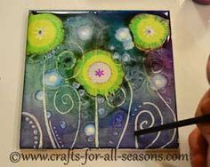 Learn how to make beautiful tiles with alcohol inks - full tutorial from Crafts For All Seasons