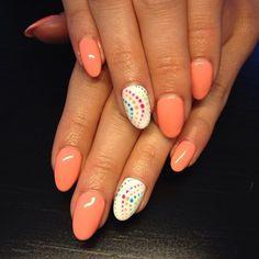 by Mezei Edina, Follow us on Pinterest. Find more inspiration at www.indigo-nails.com #nailart #nails #indigo #polkadots