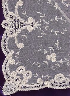NEEDLE LACE, handmade - This is exquisite. <> (needlework)