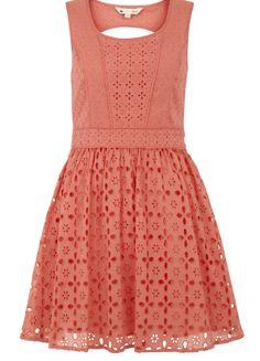 Broderie Anglaise Sleeveless Dress