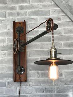 Industrial floor lamp west ninth vintage httpssmileazondp industrial lighting pulley lamp antique slicer w 33 12 inch aloadofball Choice Image