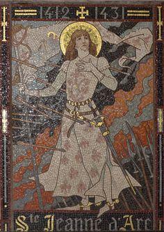 Joan of Arc - Jeanne D'Arc: La Pucelle d'Orléans Joan D Arc, Saint Joan Of Arc, St Joan, Catholic Art, Catholic Saints, Religious Art, Catholic Confirmation, Religious People, Female Knight