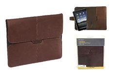 New! Targus Brown Leather Portfolio Slipcase for Apple iPad 1 & 2 Brown..free shipping