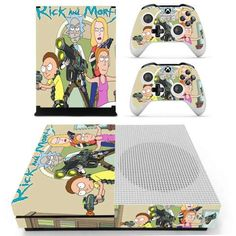 Faceplates, Decals & Stickers Video Game Accessories Collection Here Rick And Morty Xbox One S Skin For Xbox One S Console And 2 Controllers
