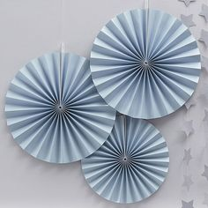 Create a pretty backdrop to your party with these paper fan decorations from our Pastel Perfection range. Each pack contains 2 large and 1 small fan in a pretty pastel blue. Baby Boy Birthday Decoration, Baby Shower Decorations For Boys, Birthday Party Decorations, Pastel Blue Color, Bleu Pastel, Color Azul, Pastel Party, Blue Party, Dibujos Baby Shower