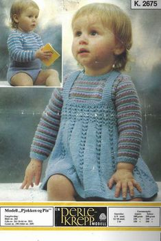 Blomsterdama: Pjokken og Pia Baby Knitting, Crochet Baby, Knit Crochet, Baby Barn, Kids And Parenting, Arts And Crafts, Children, Crocheting, Helmet