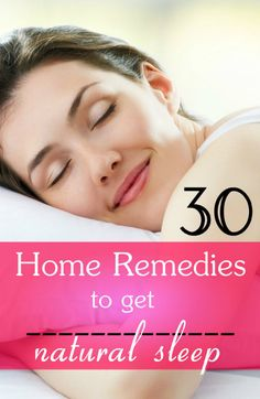 30 Tested Home Remedies for Natural Sleep
