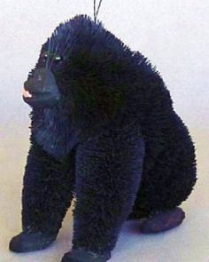 Martha Stewart Brushart Bristle Brush Ornament ~ Gorilla