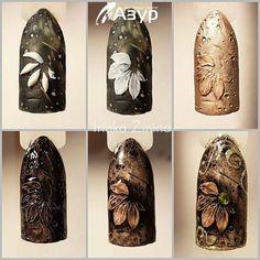 Фотография 3d Nail Art, 3d Nails, Cute Nails, Gel Nagel Design, Flower Nails, Cute Nail Designs, Nail Tutorials, Press On Nails, Nails Inspiration