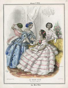 Le Bon Ton, August 1857. LAPL Visual Collections.