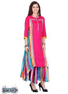 Versatile Multi Coloured Cotton Flex Kurti