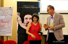 Patrizia Musso - Direttrice Brandforum e ideatrice di Slow Brand Festival, con Dante Bonacina - Slow Boss più votato dalla Community (Direttore Commerciale Ca' del Bosco)