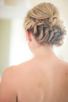 pretty braided hairstyle via Lovebird Productions