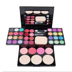 Professional Makeup Eyeshadow Lip Gloss Blush Foundation Palette Set - Gchoic.com