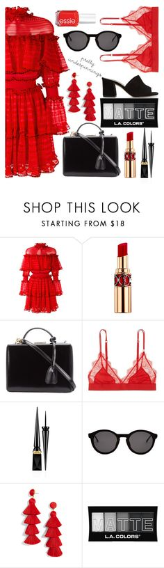 """Untitled #628"" by katerinaso19 ❤ liked on Polyvore featuring Alexander McQueen, Yves Saint Laurent, Mark Cross, LoveStories, Christian Louboutin, Thierry Lasry, BaubleBar, L.A. Colors and Maryam Nassir Zadeh"