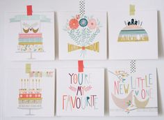 Paper Moon Everyday Card Pack by HelloPaperMoon on Etsy