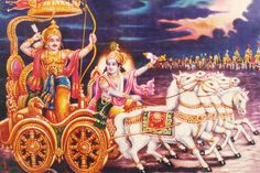 Yada yada hi dharmasya glanirbhavati bharata Abhythanamadharmasya tadatmanam srijamyaham  Paritranaya sadhunang vinashay cha dushkritam Dharmasangsthapanarthay sambhabami yuge yuge  Whenever there is decay of righteousness, O Bharata, And there is exaltation of unrighteousness, then I Myself come forth ;   For the protection of the good, for the destruction of evil-doers,  For the sake of firmly establishing righteousness, I am born from age to age.  Bhagavad Gita Chapter 4, Verse 7-8