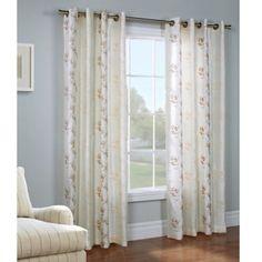 Commonwealth Home Fashions Josephina 84-Inch Grommet Top Window Curtain Panel - BedBathandBeyond.com