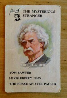 Mark Twain The Mysterious Stranger Swap Card on Etsy, $2.25 AUD