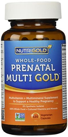 Organic Whole Food Prenatal Vitamins – Prenatal Multi Gold – 120 Veggie Capsules, Includes Food-Based Folic Acid (Folate), NutriGold Whole-Food Multivitamin Supplement with Minerals and Co-Factors for Superior Absorption and No Unpleasant Aftertaste Whole Food Multivitamin, Multivitamin Supplements, Organic Supplements, Vitamin A, Mineral Food, Pregnancy Vitamins, Pregnancy Tips, Pregnant Diet