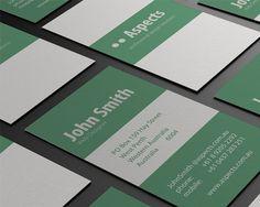 Универсальная бизнес визитка в минималистичном дизайне