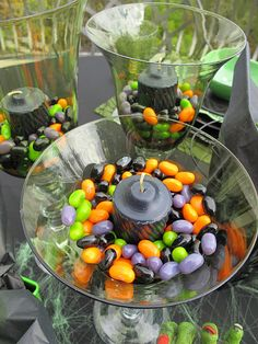 scary fun candles.this would be great for a halloween party or a october birthday party.