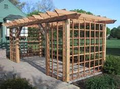 A well-formed pergola is a structure that makes out house areas a part of paradise by providing it a dreamy look. These awesome pergola designs are not just meant for beauty only but also a great source of shelter and shade for us. We have the freedo Pergola D'angle, Cedar Pergola, Building A Pergola, Deck With Pergola, Pergola Lighting, Covered Pergola, Pergola Ideas, Building Plans, Pergola Screens