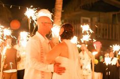 sparklers for 1st dance instead of send-off?