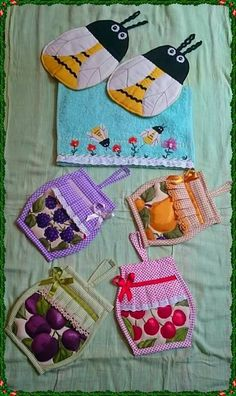 New sewing projects kitchen hot pads 55 Ideas Small Sewing Projects, Sewing Patterns For Kids, Crochet Projects, Sewing Crafts, Diy Projects, Kitchen Hot Pads, Quilted Potholders, Sewing Aprons, Diy Hat