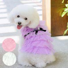 $5.50 Fashion Cute Pet Dog Clothes Costume Layered Apparel Princess Dress Skirt 3 colors