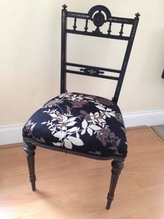 Family heirloom chair brought back to life with some new padding and funky modern fabric! Modern Fabric, Upholstered Chairs, Upholstery, Dining Chairs, Life, Furniture, Home Decor, Tapestries, Decoration Home