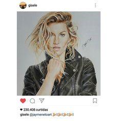 Ponto alto de 2016 ... na verdade ponto alto da minha vida . Obrigado @gisele , vc transformou a minha vida , te amo .  #gratidao #giselebundchen #gisele #love #photo #pencildrawing #realisticdrawing #wip #doodle #portrait #draw #dibujo #desenho #dessin #illustration #illustrator #art #arte #sketch #sketchbook #realismo #realistic #realism #colorful #color #desenh4ndo #fabercastell #riodejaneiro #rj #brasil