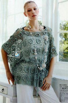 Crochetemoda: Crochet - Blusa Azul VI