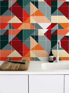 Statement Wall, House Design, Kitchen, Wave, Stickers, I Found You, Cooking, Kitchens, Architecture Design