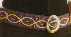Patrones Crochet: 3 Cinturones Tejidos con Motivos de Puntadas