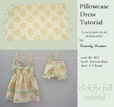 DIY Baby Girl Dress : DIY Pillowcase Dress