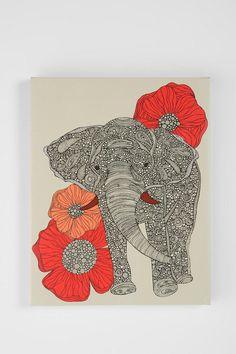 love the use of zentangle like filler on elephant