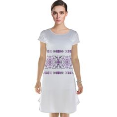 Stylized Nature Print Cap Sleeve Nightdress by #dflcprints