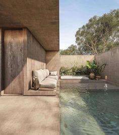 """Interior Design & Decor on Instagram: """"Exterior space by@estudioeva.mx 😍 #swimmingpool #exterior #architecture #design #house"""""""
