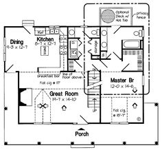 Cottage House Plan chp-30507 at COOLhouseplans.com