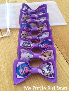 Hey, I found this really awesome Etsy listing at https://www.etsy.com/listing/187554636/my-littlest-pet-shop-party-favor-bows