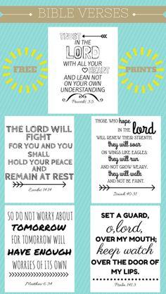 Free Printable Bible Verses – Sew Many Ways Kimi